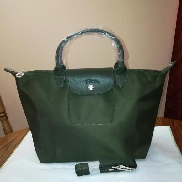 Longchamp Handbags - Longchamp Le Pliage NEO Medium Loden Green NEW 701f3fbb2f